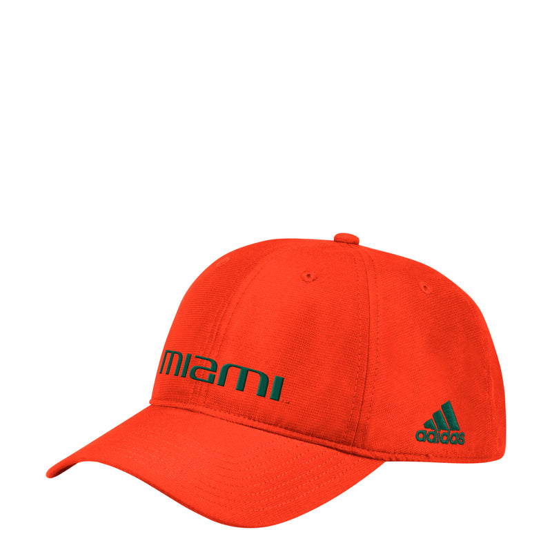 Miami Hurricanes adidas 2019 Coach Slogan Adjustable Hat - Orange