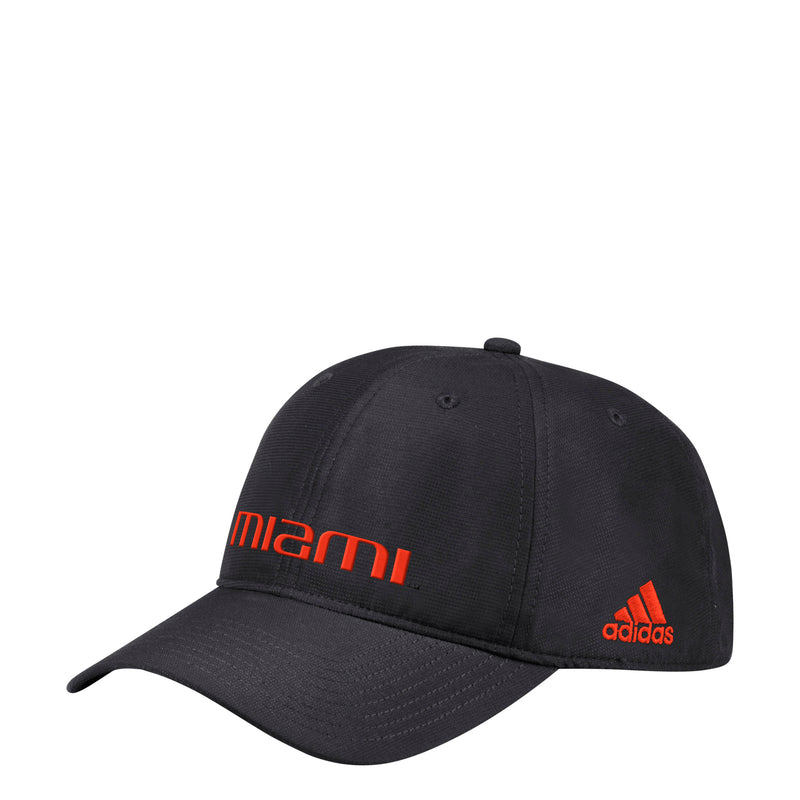 Miami Hurricanes adidas 2019 Coach Slogan Adjustable Hat - Black