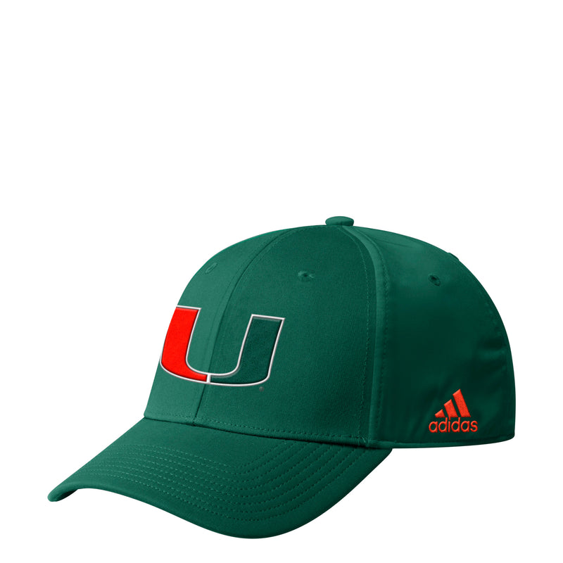Miami Hurricanes adidas 2019 Coaches Flex Hat - Green