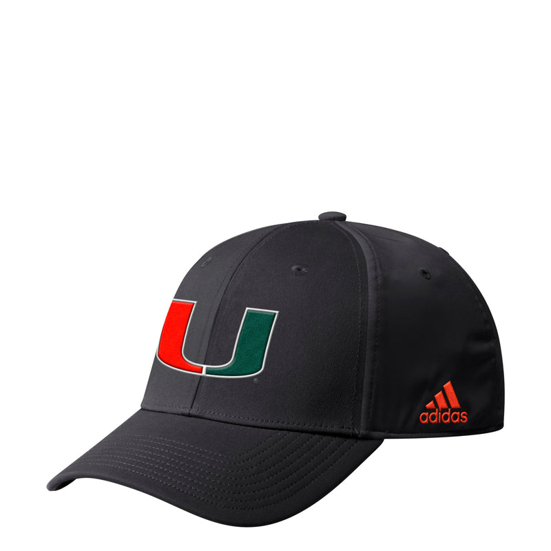 Miami Hurricanes adidas 2019 Coaches Flex Hat - Black
