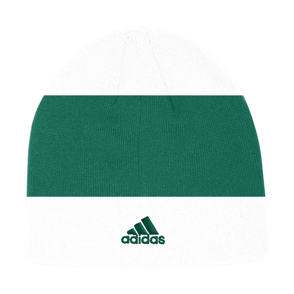 Miami Hurricanes adidas 2019 Coaches Beanie - White/Green