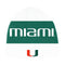 Miami Hurricanes adidas Coaches Beanie - White/Green