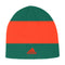 Miami Hurricanes adidas Coaches Beanie - Green/Orange