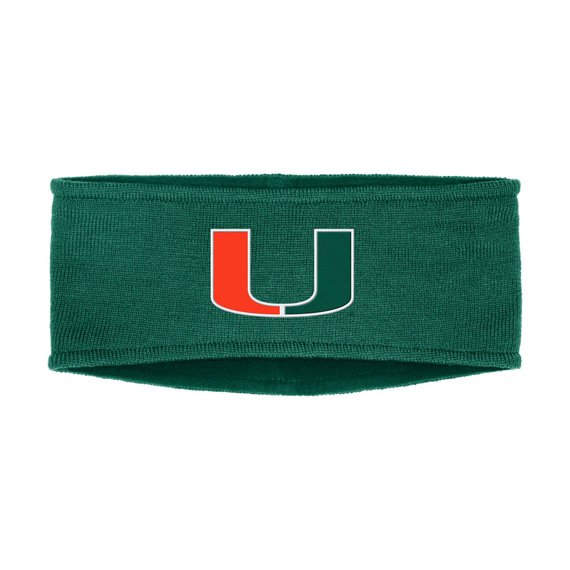 Miami Hurricanes adidas 2019 Coaches Earband - Green