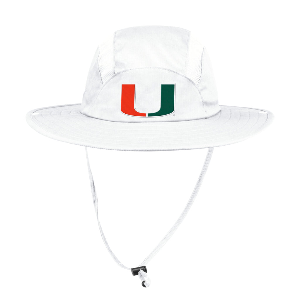 Miami Hurricanes adidas 2019 Safari Hat - White