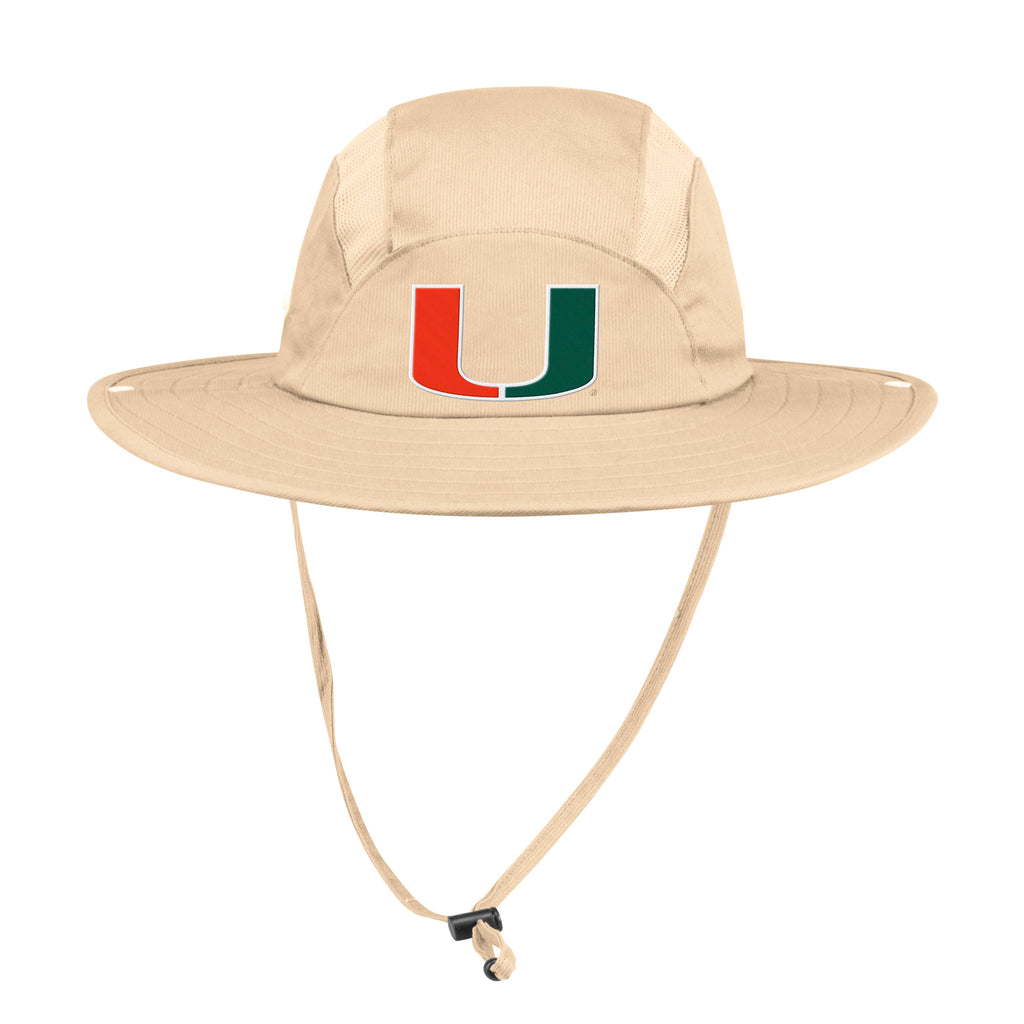 Miami Hurricanes adidas 2019 Safari Hat - Cream