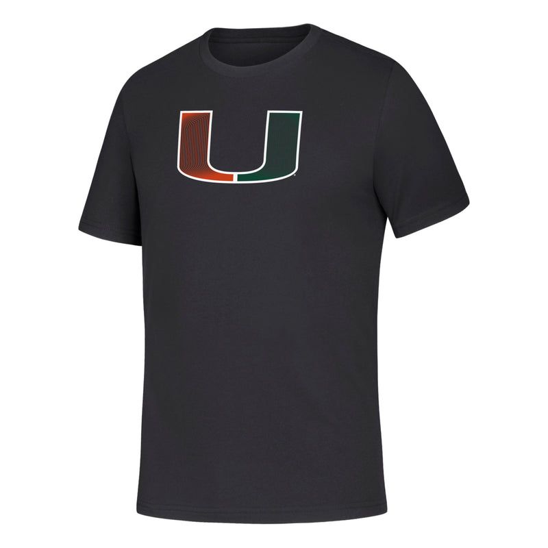 Miami Hurricanes 2019 Youth Fine Line U Amplifier Tee - Black