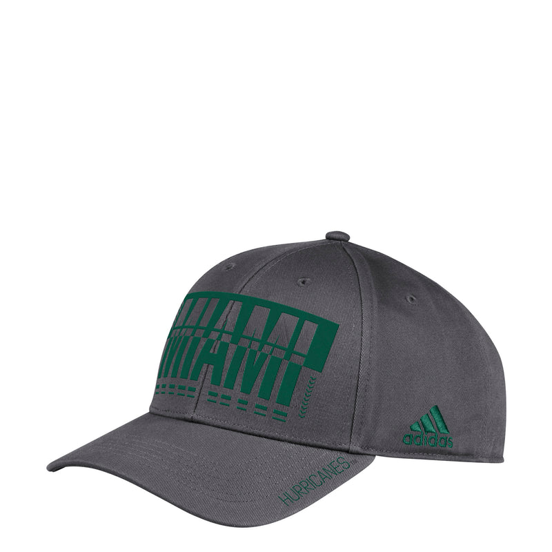 Miami Hurricanes adidas 2019 Hyper Initials Structured Adjustable Hat