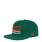 Miami Hurricanes adidas Adi Box Flat Brim Flex Hat - Green