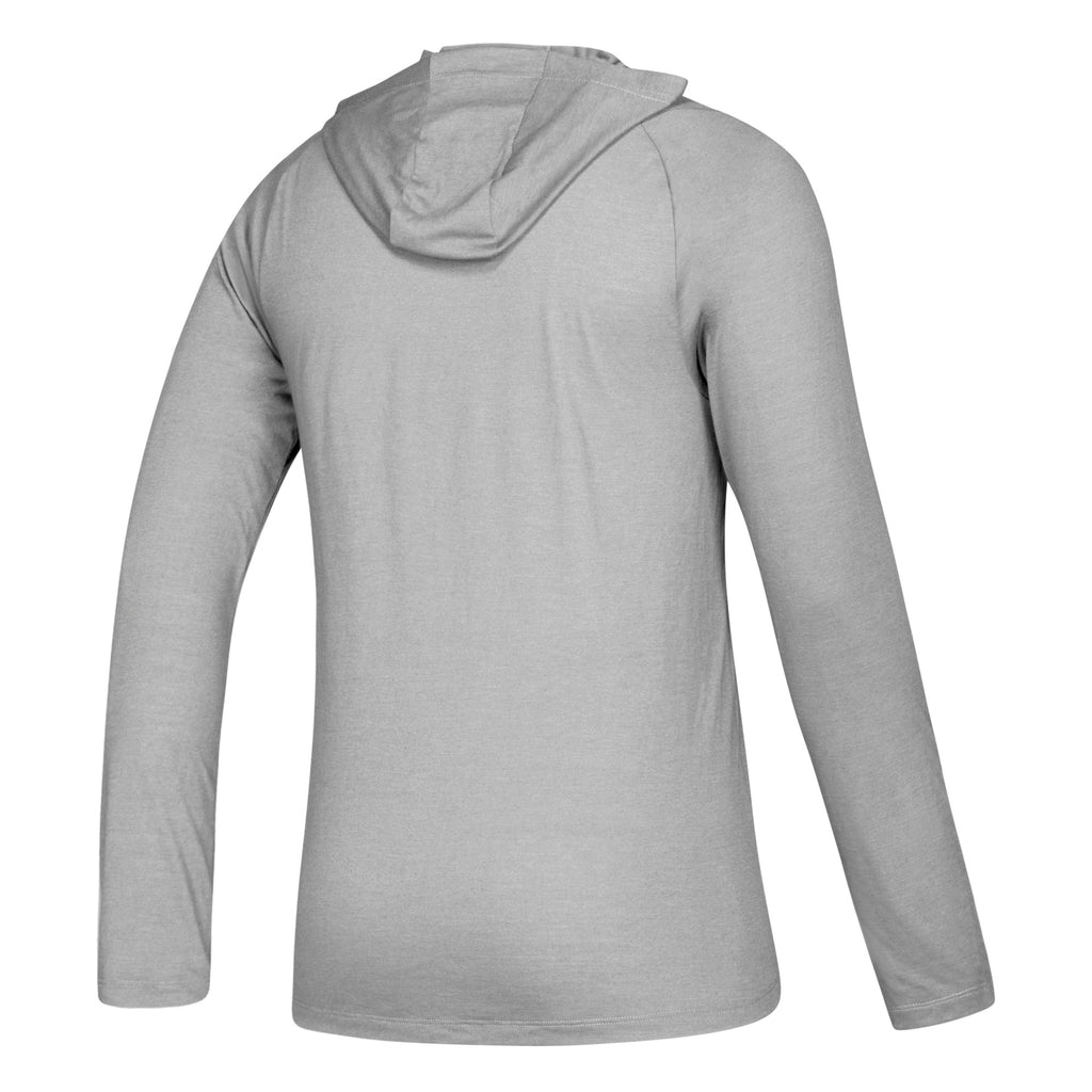 Miami Hurricanes adidas 2019 Freelift Tech Easy Hooded Long Sleeve Tee - Grey