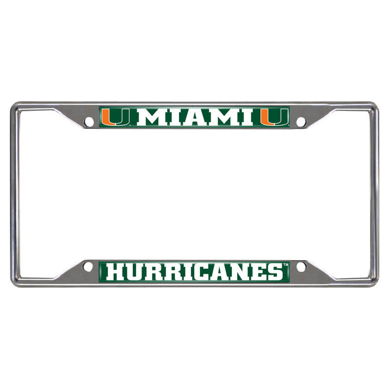 "Miami Hurricanes License Plate Frame 6.25""x12.25"""