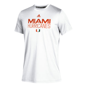 Miami Hurricanes 2019 Youth CLIMATCH T-Shirt - White