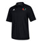 Miami Hurricanes adidas Sideline Full Button Polo - Black