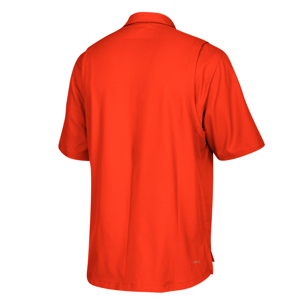 Miami Hurricanes adidas 2018 Sideline Full Button Polo - Orange
