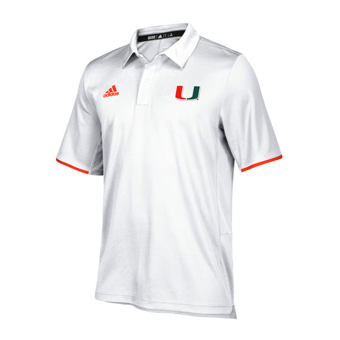 63061341d4580 Miami Hurricanes adidas 2018 Climalite Polo - White. $ 65.00. Miami  Hurricanes adidas Women's Yoga Capri Leggings Black