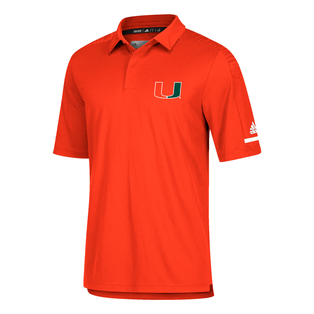 Miami Hurricanes adidas 2018 Sideline Coaches Polo - Orange