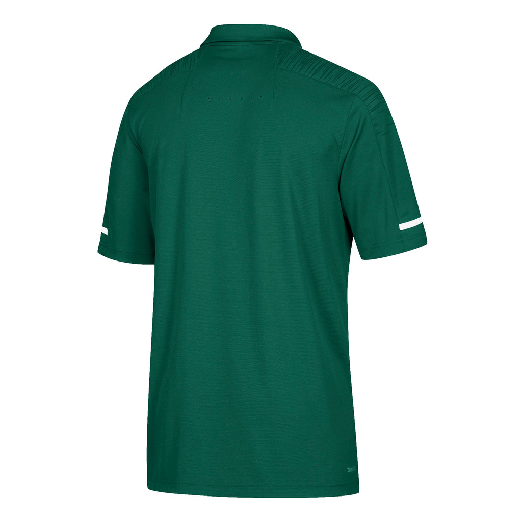 Miami Hurricanes adidas 2018 Sideline Coaches Polo - Green