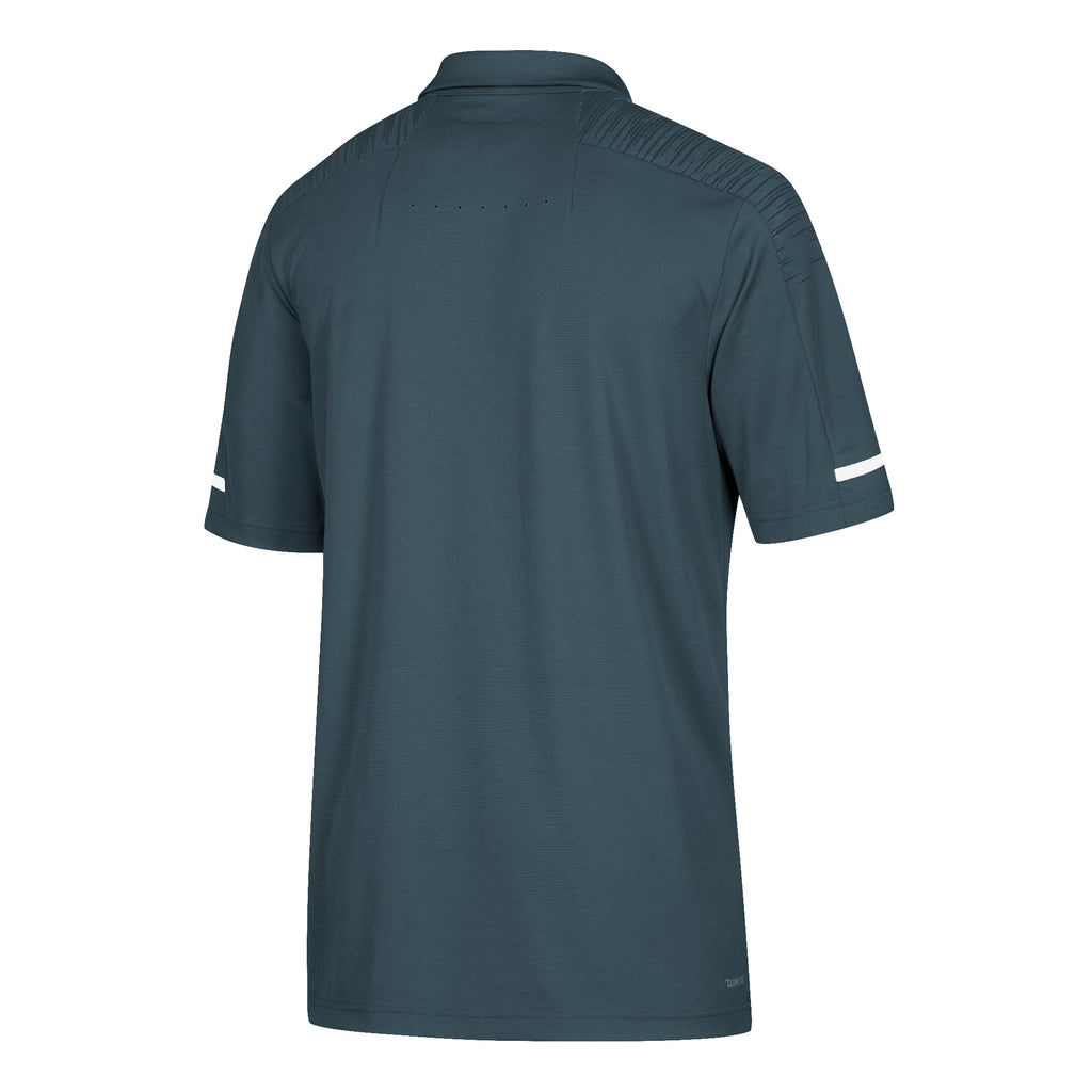 Miami Hurricanes adidas 2018 Sideline Coaches Polo - Onyx Grey