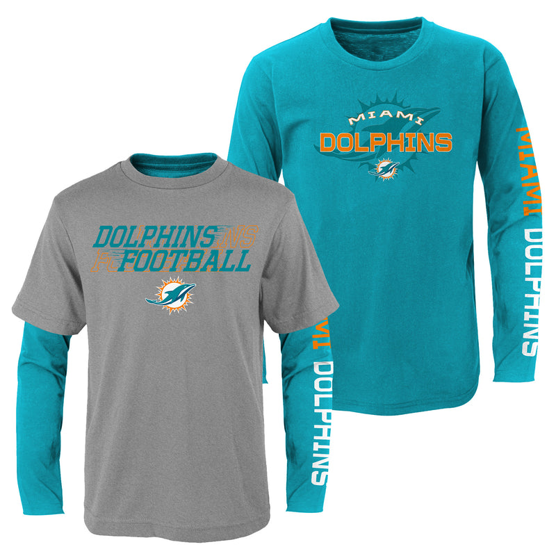 Miami Dolphins Youth Kids United 3-in-1 Combo Pack