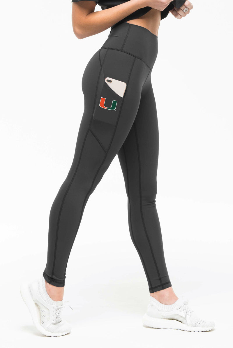 Miami Hurricanes Kadyluxe Leggings - Grey