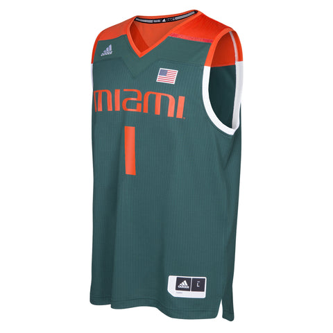 Miami Hurricanes adidas Youth March Madness Basketball Jersey