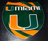 Miami Hurricanes Interstate Sign - CanesWear at Miami FanWear Signs Big Apple CanesWear at Miami FanWear