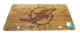 Miami Dolphins Front License Plate Tag - Wood - CanesWear at Miami FanWear Automobile Accessories Stockdale CanesWear at Miami FanWear