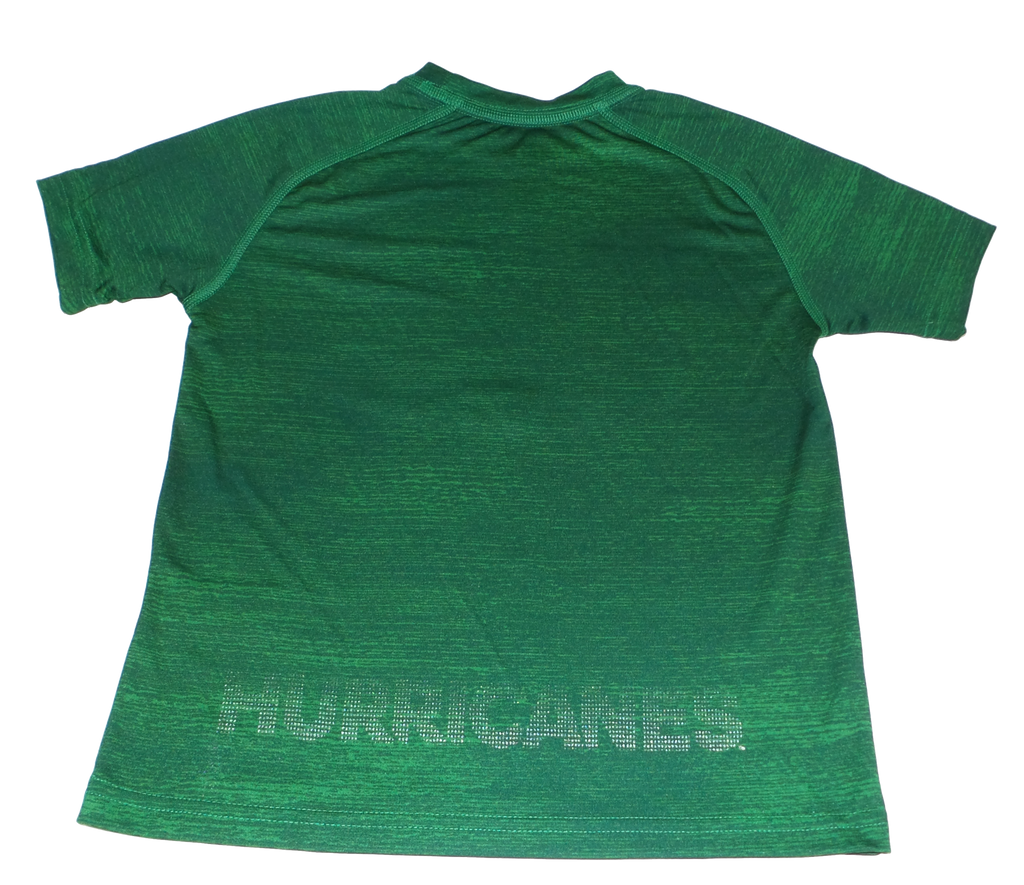 Miami Hurricanes Adidas Youth Training Crew - Green - CanesWear at Miami FanWear Youth Apparel Adidas CanesWear at Miami FanWear