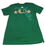 Miami Hurricanes Adidas Weightlift Go To T-Shirt - Green - CanesWear at Miami FanWear Men's T-Shirt Adidas CanesWear at Miami FanWear