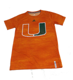 Miami Hurricanes Adidas Youth Training Crew - Orange - CanesWear at Miami FanWear Youth Apparel Adidas Group CanesWear at Miami FanWear