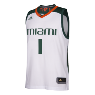 Miami Hurricanes adidas 2017 March Madness Basketball Jersey - White