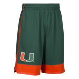 Miami Hurricanes adidas 2017 March Madness Basketball Shorts - Green
