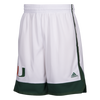 Miami Hurricanes adidas 2017 March Madness Basketball Shorts - White