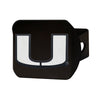 Miami Hurricanes Heavy Duty Chrome Hitch - Black