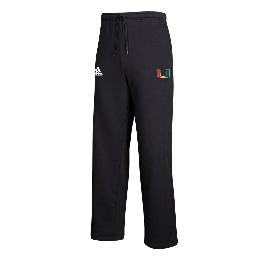 Miami Hurricanes adidas 2018 Youth Sideline Basic Logo Fleece Pants - Black
