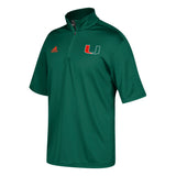 MIami Hurricanes 2017 Coaches 1/4 Zip S/S Pullover Shirt - Green