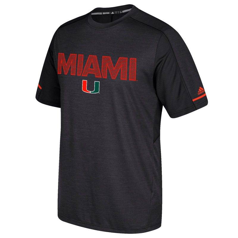 Miami Hurricanes adidas Sideline Training T-Shirt - Black