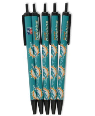 Miami Dolphins 5-pack Click Pens - CanesWear at Miami FanWear Home & Office PSG CanesWear at Miami FanWear