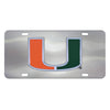 "Miami Hurricanes Diecast License Plate 12""x6"""