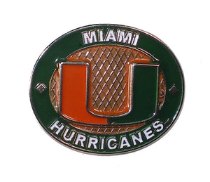Miami Hurricanes Oval Pin - U Logo