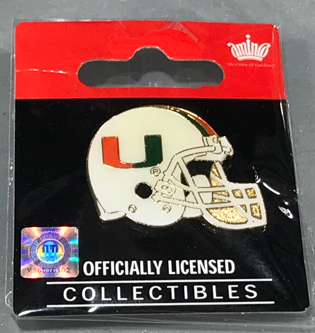 Miami Hurricanes Gold Helmet Pin