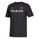 Inter Miami CF MLS Soccer adidas T-Shirt - Black