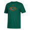 Miami Hurricanes adidas Youth Sideline Spiral T-Shirt - Green