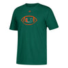 Miami Hurricanes adidas 2018 Youth Sideline Spiral T-Shirt - Green