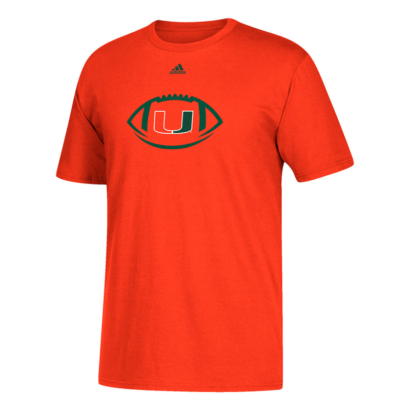 Miami Hurricanes adidas Youth Sideline Spiral T-Shirt - Orange