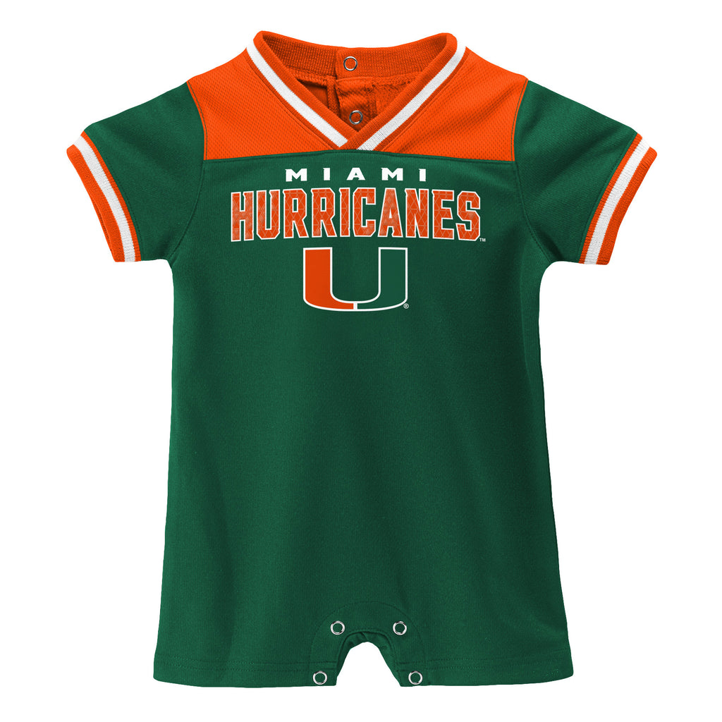 Miami Hurricanes INFANT BOYS ONESIE ROMPER - Green