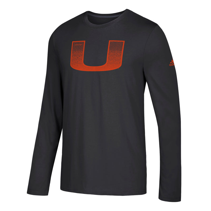 Miami Hurricanes adidas Pride Fill U Go-To Long Sleeve T-Shirt - Black