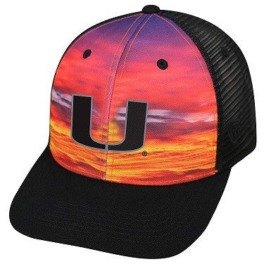 Miami Hurricanes Skyline Trucker Hat - Snapback