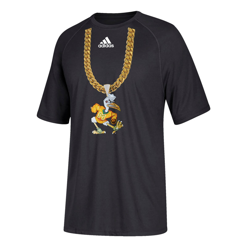 Miami Hurricanes adidas 2018 Youth Sebastian Turnover Chain T-Shirt - Black