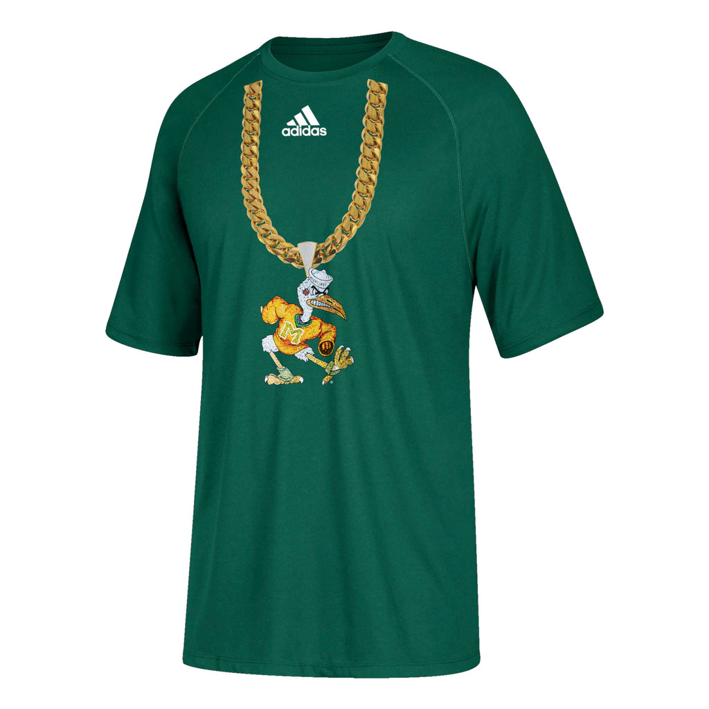 Miami Hurricanes adidas 2018 Youth Sebastian Turnover Chain T-Shirt - Green